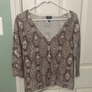 Talbots lightweight button front sweater Small